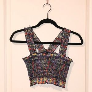 Smocked Urban Outfitters crop top